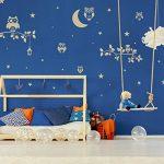 14 pochoirs en plastique réutilisable // Hibou - Chouette - Lune - Branche // 34cm à 8cm // modèles de peinture pour enfants // décoration de la chambre des enfants de la marque Nakleo image 1 produit