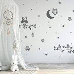 14 pochoirs en plastique réutilisable // Hibou - Chouette - Lune - Branche // 34cm à 8cm // modèles de peinture pour enfants // décoration de la chambre des enfants de la marque Nakleo image 2 produit