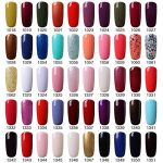 [298 Coloris disponible] Vishine Lot de 22 Flacons Vernis Gel Semi-Permanent(20 couleurs + Base Top Coat Kit ) Vernis à Ongles UV LED Soak Off 22pcs 8ml de la marque Vishine image 3 produit