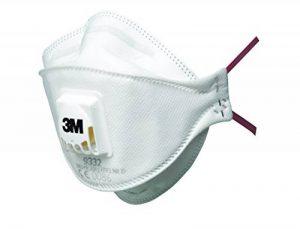 3M 9322+ C2Aura Masque, niveau de protection FFP2, idéal pour porteur de lunettes, Lot de 2 de la marque 3M image 0 produit