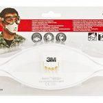 3M 9322+ C2Aura Masque, niveau de protection FFP2, idéal pour porteur de lunettes, Lot de 2 de la marque 3M image 1 produit