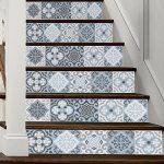 3D DIY Escalier Autocollants, 6Pcs 100x18cm Auto-adhésif Imperméable Décoratifs À La Maison Decals/Stairway Stickers Decorating Peinture Murale pour Tuile, Brique, Escaliers Latéraux En Bois de la marque MansWill image 2 produit