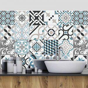 (54 Pieces) carrelage adhésif 10x10 cm - PS00054 - Oslo - Adhésive décorative à Carreaux pour Salle de Bains et Cuisine Stickers carrelage - Collage des tuiles adhésives de la marque wall-art image 0 produit