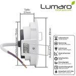 6x Lumare Slim Line LED spot encastrable IP44 rond/blanc avec seulement une profondeur d'installation de 27 mm! Spot de plafond 4W 400lm AC 230V de la marque Lumare image 2 produit