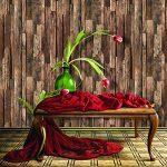 9101vieilli Planche de bois Rouleaux de papier peint, d'art imitation bois papier peint peintures murales de cuisine chambre à coucher Salon Cafe Bar Décoration murale 20.8en × 10m de la marque JZ-HOME image 2 produit