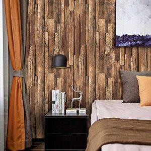 9101vieilli Planche de bois Rouleaux de papier peint, d'art imitation bois papier peint peintures murales de cuisine chambre à coucher Salon Cafe Bar Décoration murale 20.8en × 10m de la marque JZ-HOME image 0 produit