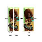A.Monamour Stickers Muraux Autocollants Femme Noire Africaine Traditionnelle Avec Des Cheveux Afro Soufflant Des Gencives Aquarelle Vinyle Chambre Porte Des Autocollants Peintures Murales Autocollants de la marque A-Monamour image 1 produit