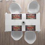 ABAKUHAUS Graffiti Urbain Set de Table, Peinture Surréaliste, Tissu Lavable pour la Cuisine et Le Dessus de Table de Salle à Manger, Multicolore de la marque ABAKUHAUS image 2 produit