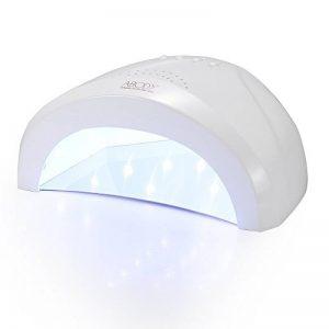 Abody 48W/24W Lampe UV LED Sèche Ongles, Professionnel Lampe UV Ongles Gel avec Infra-rouge Capteur Automatique, minuterie 30 sec, 90 sec et 5 sec, Séchage Rapide Pour Gel, Mode indolore, Blanc de la marque Abody image 0 produit
