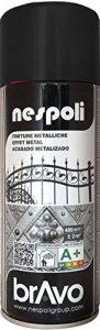 AEROSOL Peinture Noir - Peinture Pro à effet Métallisé - 400ml de la marque NESPOLI image 0 produit
