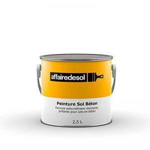 Affairedesol Peinture Sol Béton Polyuréthane Résistante Brillante pour Béton Bois Métaux, 2,5L Gris de la marque Affairedesol image 0 produit