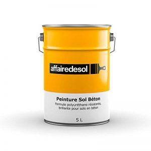 Affairedesol Peinture Sol Béton Polyuréthane Résistante et Brillante pour Béton Bois, 5L Gris Clair de la marque Affairedesol image 0 produit