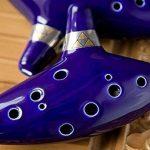 AFUNTA 12 Hole Ocarina Céramique Alto C Legend of Zelda Ocarina Flûte traversière avec livre de chansons (Collier cordon avec couleur aléatoire) - Bleu de la marque AFUNTA image 4 produit