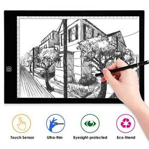AGM Tablette Lumineuse A3, Light Box LED Copie Board avec Luminosité Réglable Précise, Tables à Dessin Ultre-Mince, Bouton Tactile, Câble USB, Dessin Tablette pour Croquis Esquisse Architecture de la marque AGM image 0 produit