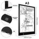 AGM Tablette Lumineuse A3, Light Box LED Copie Board avec Luminosité Réglable Précise, Tables à Dessin Ultre-Mince, Bouton Tactile, Câble USB, Dessin Tablette pour Croquis Esquisse Architecture de la marque AGM image 4 produit