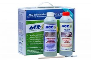 Ago Kit d'élimination des moisissures 3 pièces AGO Dissolvant anti-moisissures avec Ago Stop moisissure se complètent parfaitement de la marque AGO image 0 produit