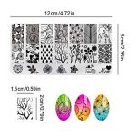 AIMEILI Nail Art Stamping Plates Set Manicure Pedicure Kit 5Pcs Nail Plates, 2 Stamper, 2 Grattoir, 1 Latex Peel Off Tape de la marque AIMEILI image 3 produit
