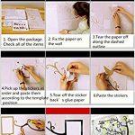 Alicemall Stickers Autocollants Muraux Amovibles 3D en Acrylique Arbre avec des Branches Incurvées et des Cadres de Photo et des Oiseaux (Feuilles Noires) de la marque Alicemall image 3 produit
