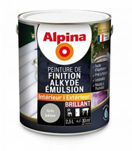 Alpina - Peinture Alkyde émulsion 2,5L Brillant - Brillant, Gris béton de la marque Alpina image 0 produit