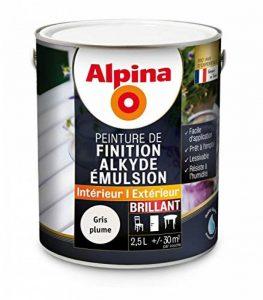 Alpina - Peinture Alkyde émulsion 2,5L Brillant - Brillant, Gris Plume de la marque Alpina image 0 produit