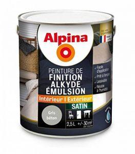 Alpina - Peinture Alkyde émulsion 2,5L Satin - Satin, Gris béton de la marque Alpina image 0 produit