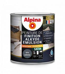 ALPINA - Peinture Alpina Alkyde émulsion 0,5L Satin - Satin, Gris ardoise de la marque Alpina image 0 produit