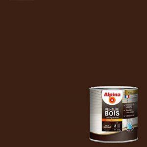 ALPINA Peinture Bois microporeuse - Satin Brun Normand 0,5L 5m² de la marque Alpina image 0 produit