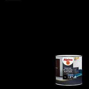 ALPINA Peinture de finition - Acrylique - Mat Noir 0,5L 6m² de la marque Alpina image 0 produit