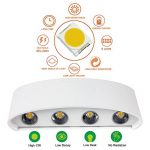Appliques Murales Interieur LED Lampe 8w étanche Moderne Applique Murale en Aluminium Blanc pour Chambre Maison Couloir Salon (Blanc Chaud) de la marque NetBoat image 1 produit