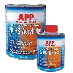 Apprêt blanc carrosserie garnissant isolant ou poursuite 1L + durcisseur 0,2L de la marque APP image 0 produit