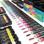 ARTEZA Coffret peinture acrylique | 60 tubes de couleurs (22ml) | Pigments riches | Haute qualité | Non Toxique | Pour artistes professionnesl, peintres amateurs et peinture enfant de la marque ARTEZA® image 2 produit