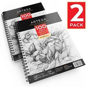 Arteza Croquis Des Livres, Papier a Dessin, Sketch Book - Pad 22.9 x 30.5 CM de la marque ARTEZA® image 0 produit