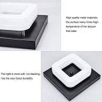 Artpad 12W a mené le plafonnier, facile installer la lampe lumineuse moderne de bâti carré noir de bâti de surface pour la salle de bains salle à manger de la marque Artpad image 2 produit