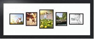 ArtToFrames Cadre Photo Double avec Ouvertures 1-5x7 et 4-4x5 et Cadre Noir satiné de la marque ArtToFrames image 0 produit