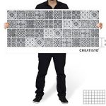Autocollant en Vinyle - adhésif carrelage Murale Stickers Cuisine - Embellir Salle de Bain I Recouvrir Carreaux de Ciment moasique - 10x10 cm (40 piéces) - Design Noir et Blanc de la marque creatisto image 3 produit