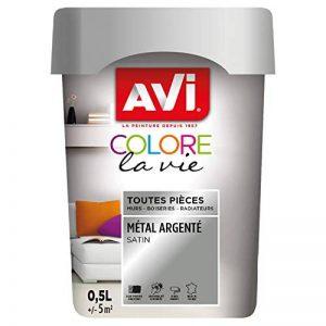 AVI - COLORE TOUTES PIECES - Haut Pouvoir Opacifiant - Satin - 0,5L - Métal Argenté de la marque Avi image 0 produit