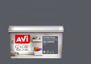 AVI - COLORE TOUTES PIECES - Haut Pouvoir Opacifiant - Satin - 2,5L - Gris Graphite de la marque Avi image 0 produit