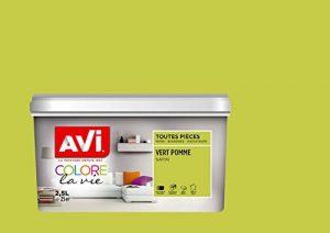 AVI - COLORE TOUTES PIECES - Haut Pouvoir Opacifiant - Satin - 2,5L - Vert Pomme de la marque Avi image 0 produit