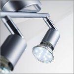 B.K. Licht plafonnier 2 spots LED orientables I spots plafond orientables I ampoules LED GU10 2X3W fournies I éclairage plafond LED cuisine chambre salon I blanc chaud I 230V I IP20 de la marque B-K-Licht image 2 produit