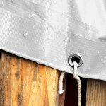Bâche de protection casa pura® en polyéthylène | Bache renforcée haute densité 260g/m² | 100% imperméable à l'eau et aux UV | Blanche - env. 3x4m de la marque casa-pura image 3 produit