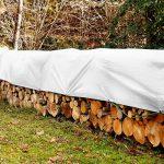 Bâche de protection casa pura® en polyéthylène | Bache renforcée haute densité 260g/m² | 100% imperméable à l'eau et aux UV | Blanche - env. 3x4m de la marque casa-pura image 4 produit