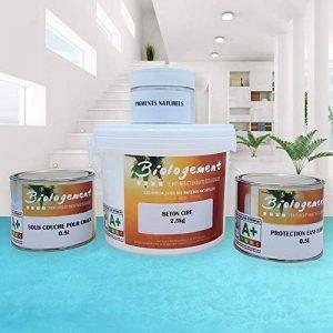 Biologement Béton Ciré Ecologique sans Odeur Sol Carrelage Murs - Azur - 2 m² [Classe énergétique A+++] de la marque Biologement image 0 produit