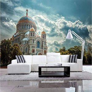 BIZIX Fonds D'écran 3D Personnalisé Simple Belle Église Fond D'écran TV Fond Salon Décoration Murale Peinture de la marque BIZIX image 0 produit