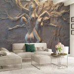 BIZIX Papier Peint personnalisé 3D Stéréoscopique en Relief Abstrait Beauté Body Art Fond Mur Peinture Peinture Salon Chambre Murale de la marque BIZIX image 3 produit