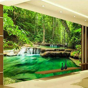BIZIX Personnalisé 3D Photo Papier Peint Vert Forêt Paysage Grand Mur Peinture Salon Chambre Fond Papier Peint de la marque BIZIX image 0 produit