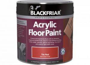 Blackfriar Peinture acrylique Peinture de sol carrelage Rouge 1L de la marque Blackfriar image 0 produit