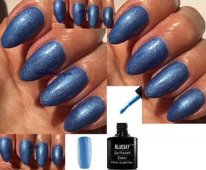 Blue Sky 80601 Water Park Blue Shimmer Garden Muse Vernis à ongles gel UV LED Soak Off 10 ml Plus 2 Homebeautyforyou Brillance Lingettes de la marque Bluesky image 0 produit