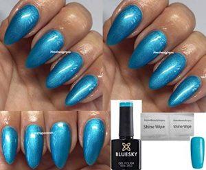 Bluesky WR05 Vernis à ongles gel UV LED soak off + 2 lingettes brillantes Home Beauty Foryou WR05 Vert turquoise foncé effet métallique de la marque Bluesky image 0 produit