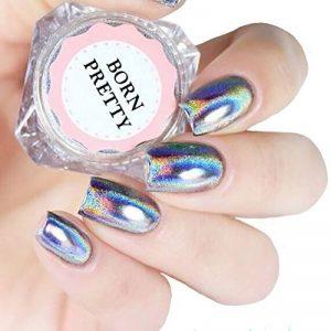Born Pretty Poudres Holographiques Laser Effet Arc en Ciel Nail Art Pigment Chrome #0.5g de la marque Born-Pretty image 0 produit