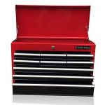 Boîte à outils US Pro Tools, avec 9tiroirs à roulement à billes - Rouge et noire de la marque us-pro-tools image 1 produit